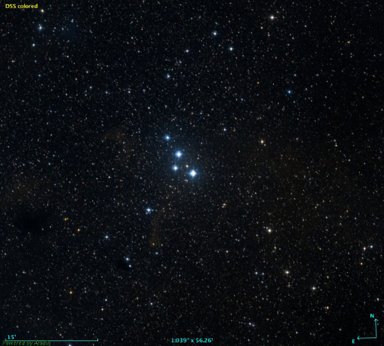 15 Cephei - Image Courtesy the Digitized Sky Survey