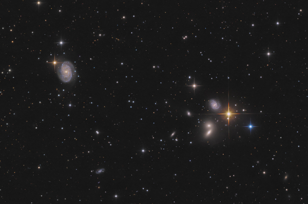 Hickson 68 galaxy group in Cane Venatici - Image Courtesy of Thomas Henne