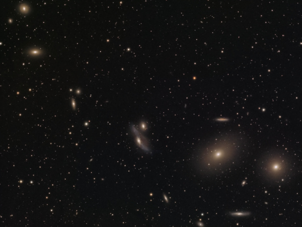 Markarian's Chain - Image Courtesy of David Davies