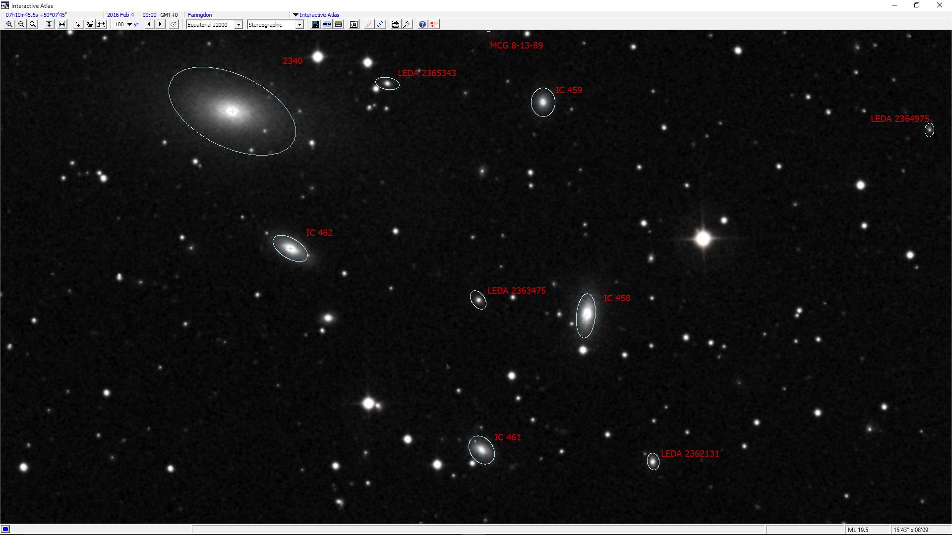 webb deep sky society deep sky observations of galaxy megastar chart of the ngc 2340 field