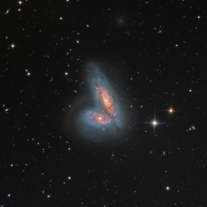 NGC 4567 and NGC 4568 (The Siamese Twin Galaxies) - Image Courtesy of Bill Snyder