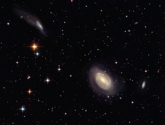 NGC4725, NGC4747 and NGC4712 - Image Courtesy of David Davies