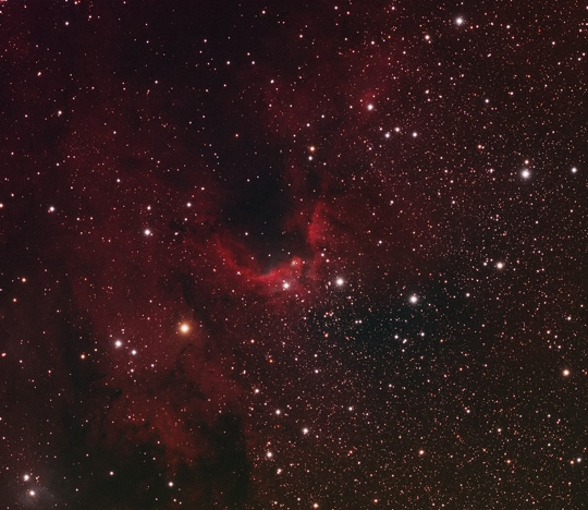 The Cave Nebula (Sh2-155) with an Equinox ED120 - Image Courtesy of David Davies