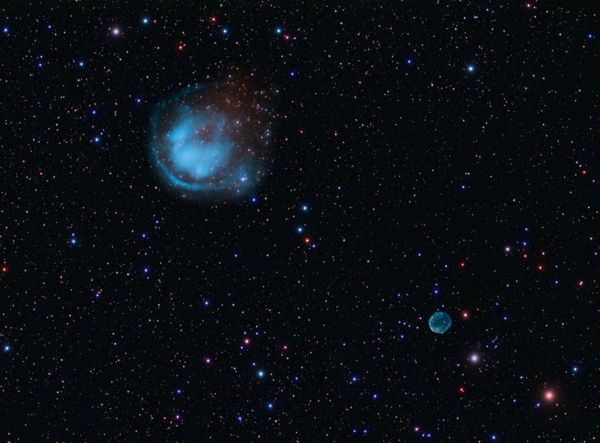 The Planetary Nebulae Abell 6 and HFG1 in Cassiopeia by David Ratledge