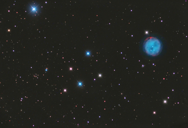 The Owl nebula (M97) and Hickson 50 galaxy group in Ursa Major by David Ratledge