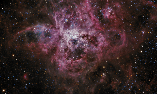An RGB image of the Tarantula Nebula - Image Courtesy of Steve Crouch