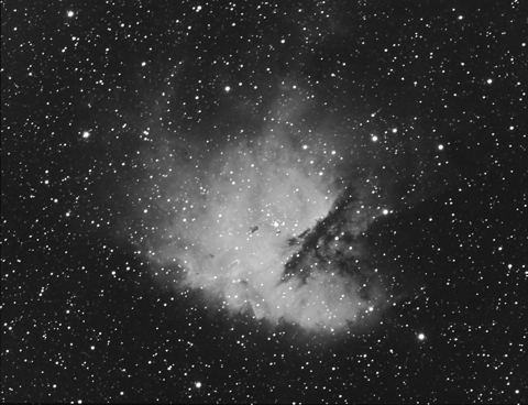NGC 281: the Pacman Nebula in Halpha - Image Courtesy of Paul A Brierley